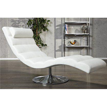 Szezlong Relax biały