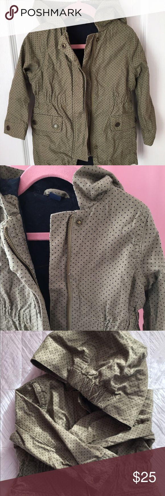 GAP Military Style Toddler Girl Jacket, Size 2T Gently used Toddler Girl Spring/Fall Jacket in Olive, military/parka style. Size 2T. In great condition! GAP Jackets & Coats Raincoats