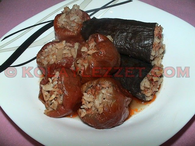 Etli-Kuru-Dolma-Patlıcan-ve-Biber