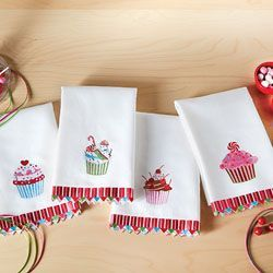 Sweet Treat Guest Towels - Set of 4, Assorted