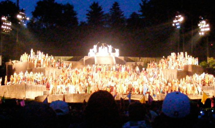 We'll sing and we'll shout!        hill Cumorah pageant