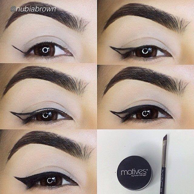 Amazing! Take a look at this incredible eyeliner pictorial by @Nubia Cruz Brown using Motives Gel Eyeliner in Little Black Dress