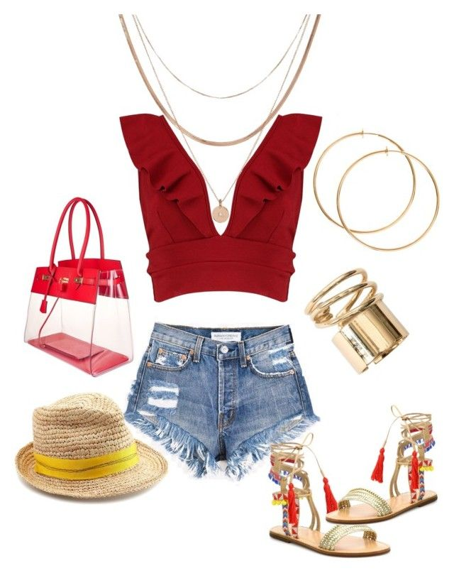 """beach🍹🌴🌞"" by nony4-5n on Polyvore featuring Boohoo, Schutz, Luv Aj and Lola"