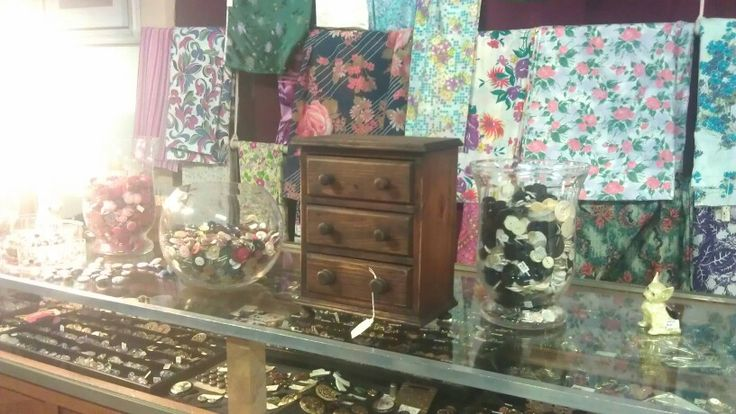 Buttons shop at Paddington Antiques Centre. Brisbane