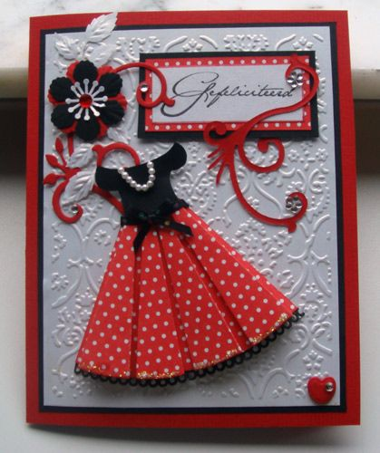 Prada wears red by niki1 - Cards and Paper Crafts at Splitcoaststampers  absolutely adorable!