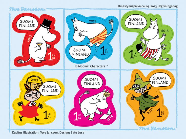 2013 Moomin favorites - a booklet of six stamps