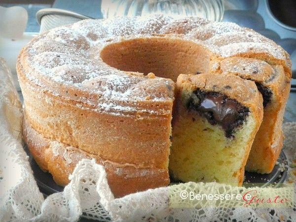 Ciambella alla Nutella Cuore morbido - Nutella cake