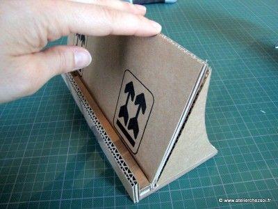 Fiche créative : Support de tablette numérique en carton - Créer ses meubles en carton