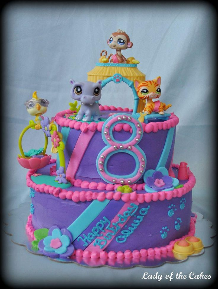 Littlest Pet Shop Cake for Abby.