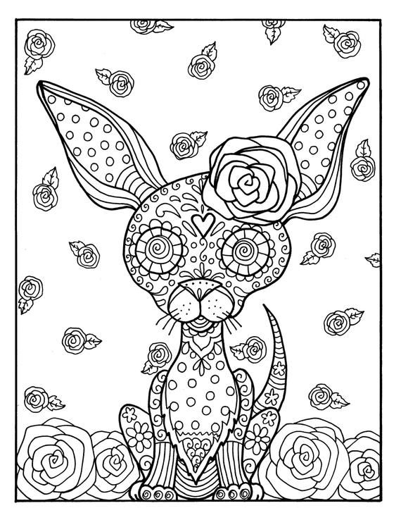 Digital Book Day Of The Dead Girls Skulls And Pets Coloring