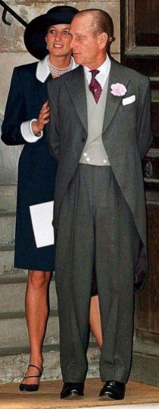 Have never seen a picture like this before. Princess Di with Prince Phillip.