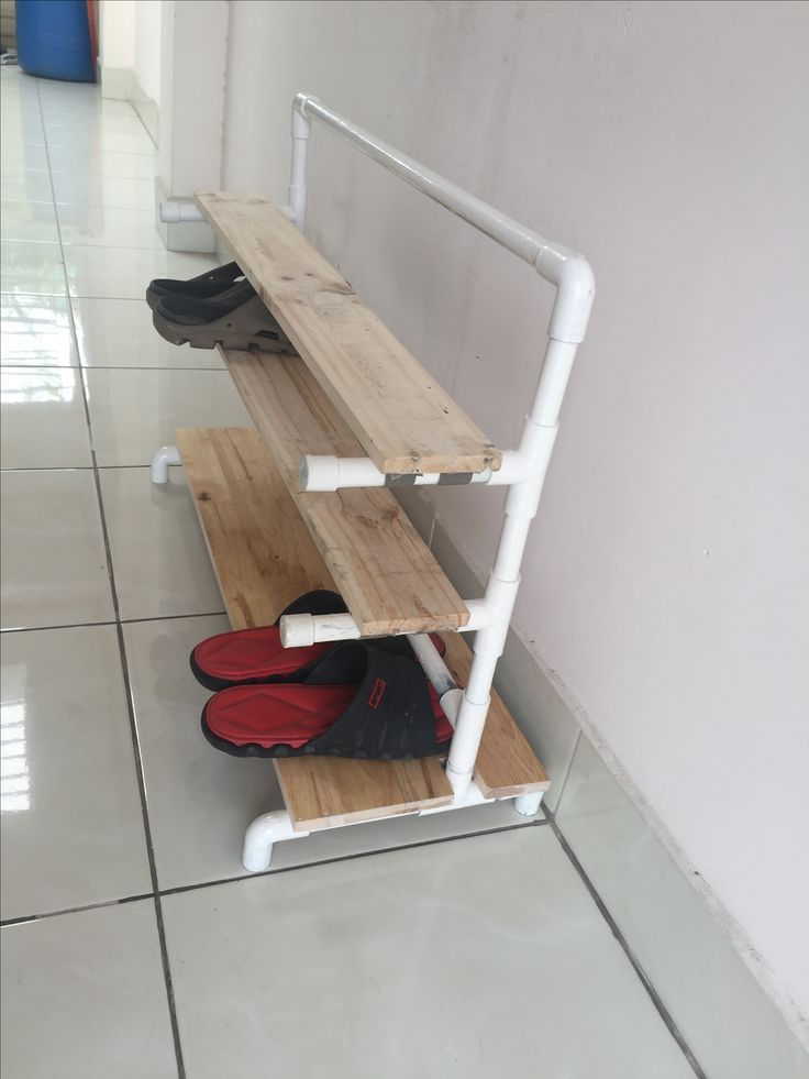 Shoe rack outside front door
