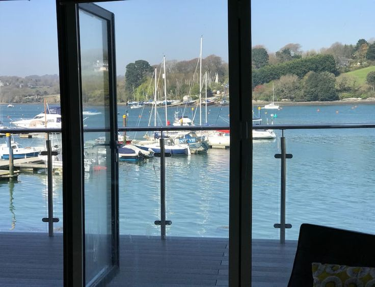 in Falmouth, United Kingdom. Uber cool contemporary pad right on the water with its own pontoon and a short walk into town