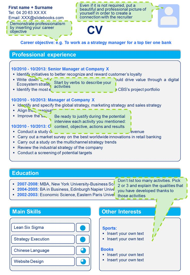 8 best Professional CV Template \ Resume Template in Powerpoint - powerpoint resume example