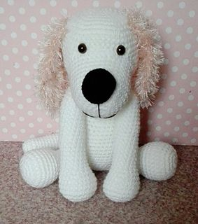 This pattern includes instructions how to crochet a puppy dog, material you will need and some pictures.
