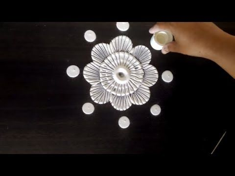 Easy RANGOLI Designs 5 in one video by Creative Hands - YouTube