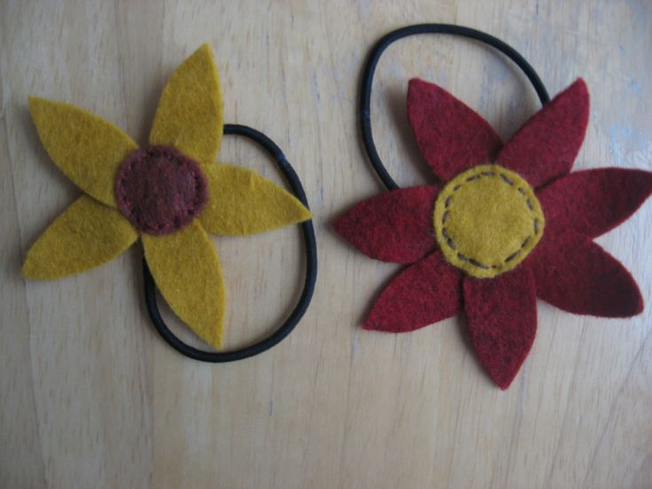 felt hair ties - Google Search