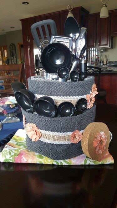 Bridal shower kitchen cake