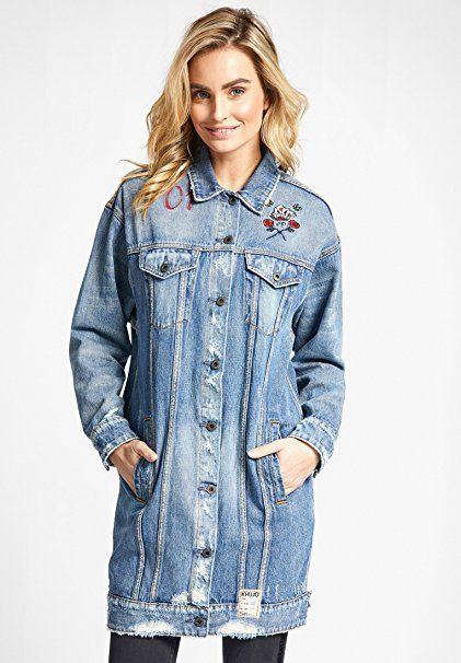 khujo Damen Mantel DAFNA BROKEN im klassischen Jeansjacken-Style  -  Jeansjacke frauen jeansjacken damen jeans outfit jean…   Jeansjacken Frauen  Trends eb1a2c6e01