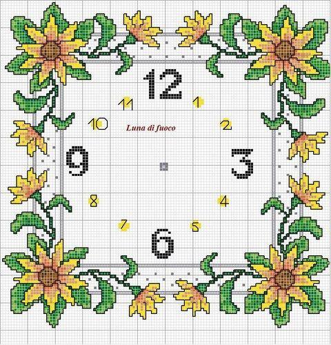 Schemi punto croce - Orologio