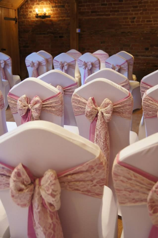 Stunning Lace Chair Cover Bows