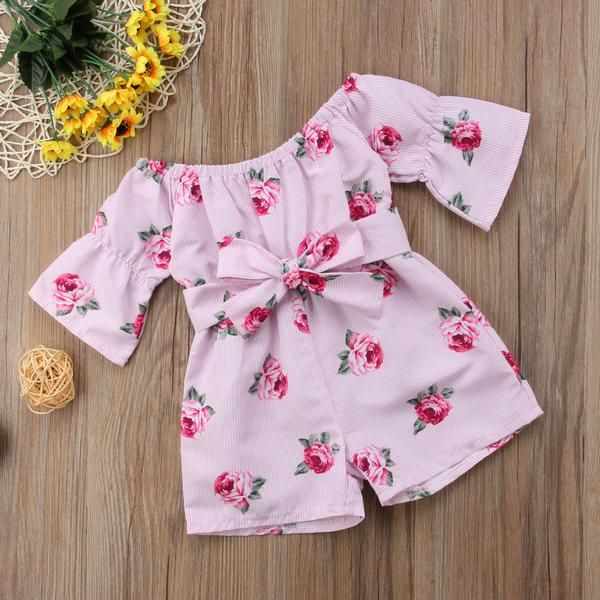 Toddler Kids Baby Girl Sleeveless Romper Jumpsuit Sunsuit Outfits Summer Clothes