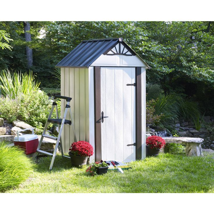 Arrow 4' x 4' Designer Metro Metal Storage Shed