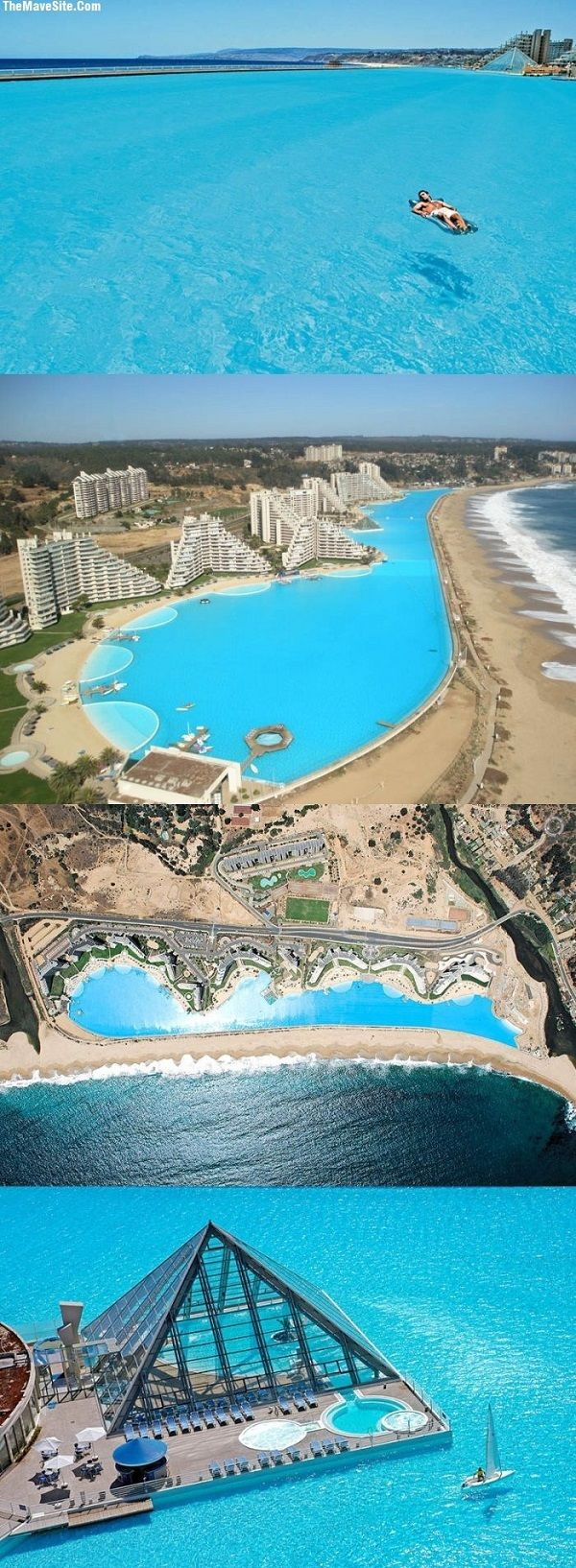 Incredible algarrobo chile world 39 s largest swimming - The biggest swimming pool in chile ...
