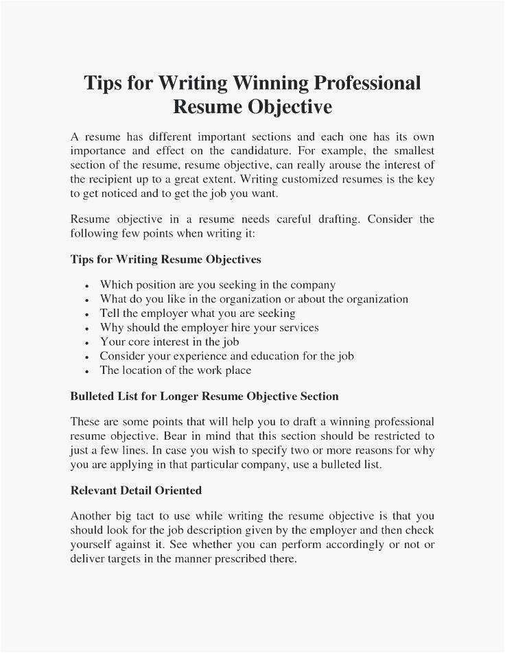 68 Elegant Photos Of Resume Writing Objective Section Resume