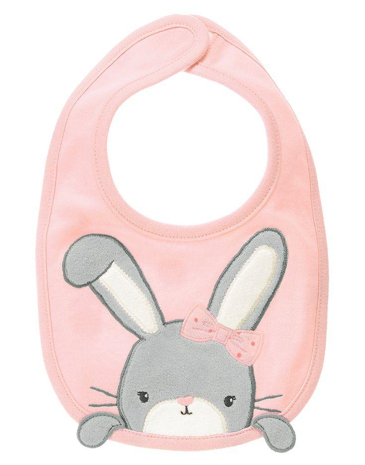 Velour Bunny Bib at Gymboree