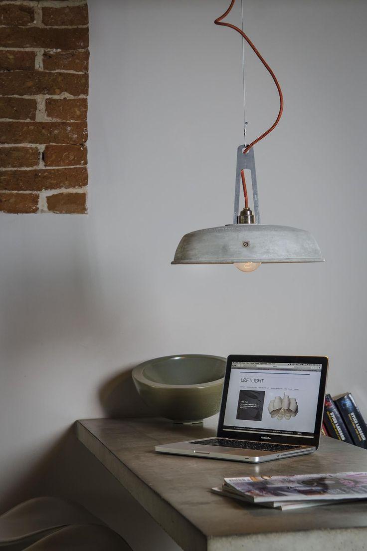 Industrielampe Industriola aus Beton