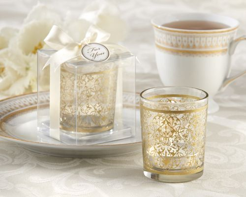 Golden Renaissance Glass Tealight Holder (Set of 4) AS LOW AS $2.37 each)