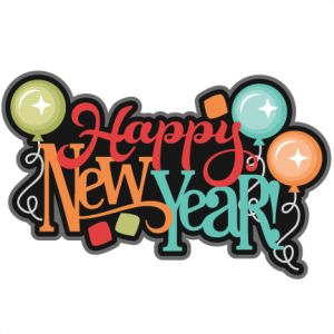 Happy New Year SVG scrapbook title new years svg cut files balloons svg cuts