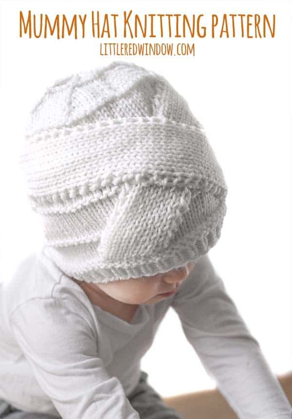 Halloween Mummy Hat Knitting Pattern | * All Hallow\'s Eve ...