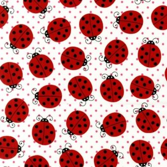 Material textil bumbac - Picnic Party Ladybugs, materiale,