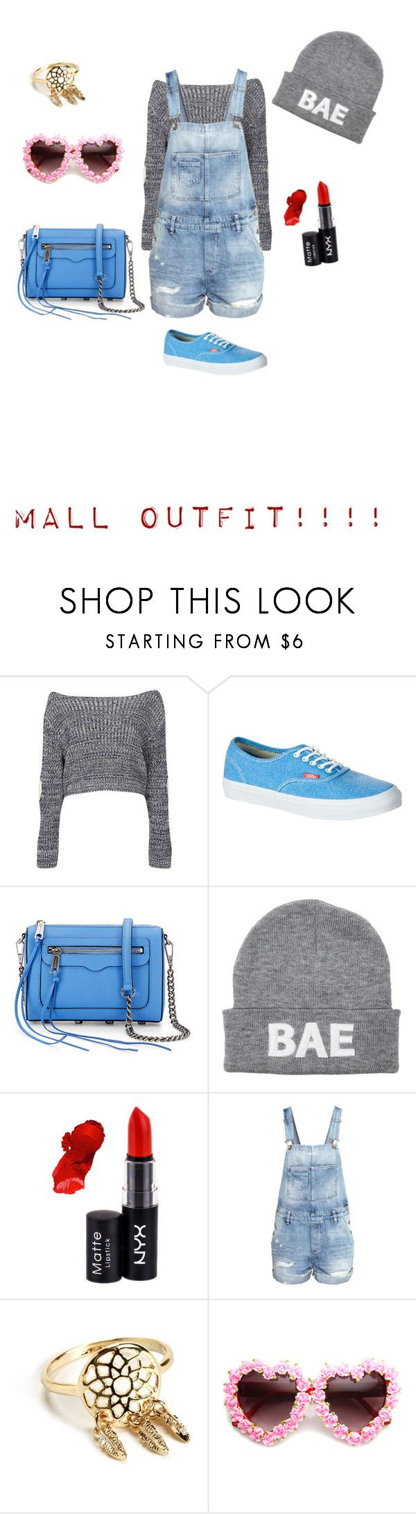 """""""Another mall outfit"""" by paniceverywhere ❤ liked on Polyvore featuring Boohoo, Vans, Rebecca Minkoff, NYX and H&M"""