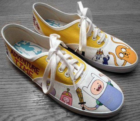 Adventure Time shoes I luv adventure time shoes!!