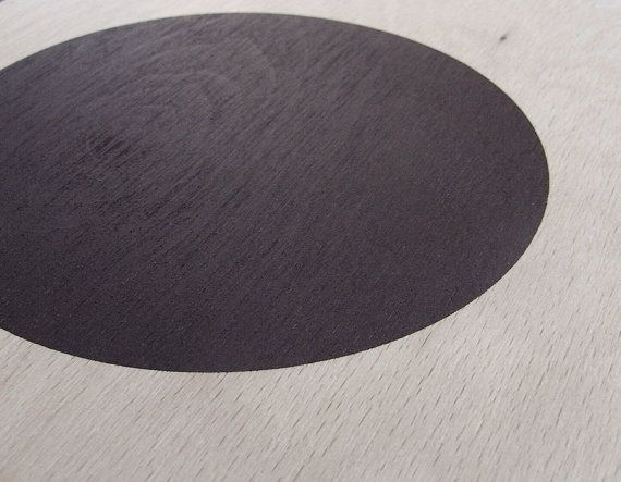 circle screenprint on plywood / dark violet