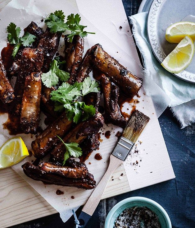 PORK RIBS with SICHUAN PEPPER SALT & CHINKIANG VINEGAR [China] [gourmettraveller]
