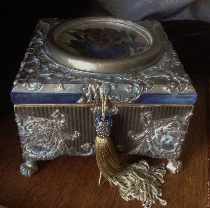 """Купить """" Iris""""    Шкатулка-ларец - комбинированный, шкатулка, шкатулка для украшений, большая шкатулка, ирис"""