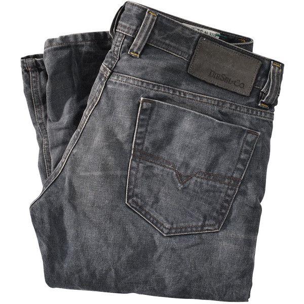 DIESEL Jeans Straight Leg (€219) ❤ liked on Polyvore featuring men's fashion, men's clothing, men's jeans, pants, jeans, bottoms, pantalones, diesel mens jeans and mens straight leg jeans
