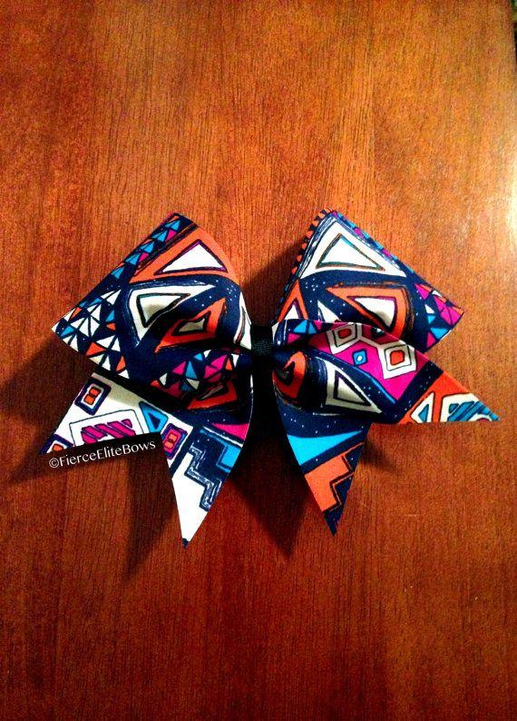 Tribal Print Cheerleading Bow