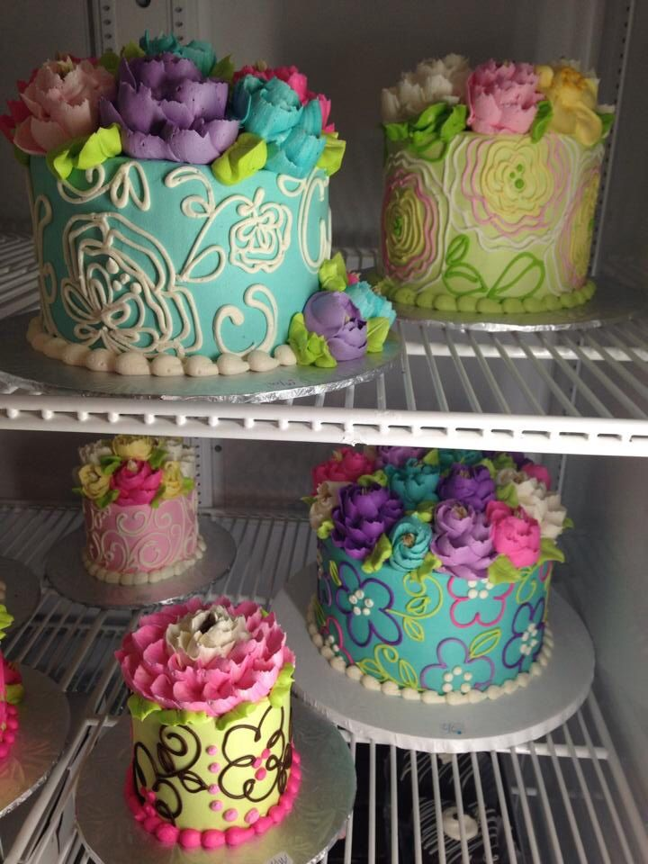"""Beautiful Colourful Cakes by """"The White Flower Cake Shoppe"""""""