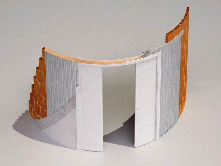 Sliding system for two curved doors ARKIMEDE DOUBLE DOOR - Ermetika