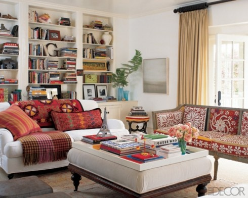 India colors mix well in more conservative interiors too.