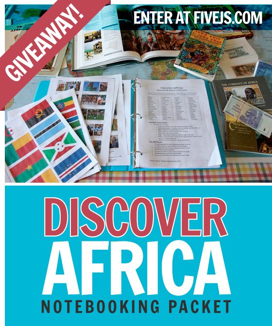 discover africa notebooking packet
