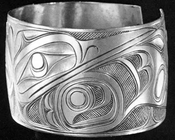 "Charles Edenshaw Bracelet. From ""The Legacy"" by Macnair, Hoover, & Neary. (Pacific Northwest Coast Indian Jewelry  for ""Focus on Design"" - The Jewelry Ring  By Cheri Van Hoover)"