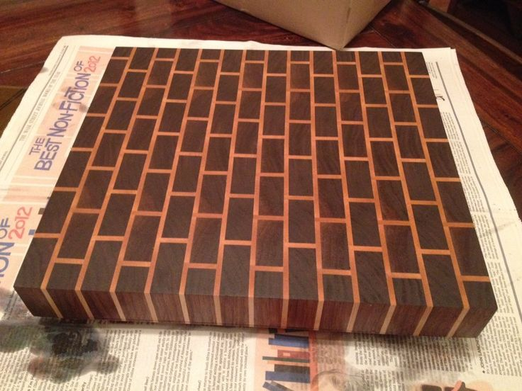 End Grain Cutting Board Patterns | End Grain Brick Pattern Cutting Board - by David @ LumberJocks.com ...