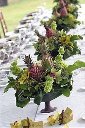 A Lil Tropical, A Lil Irish Hawaii Table Decor Part 54