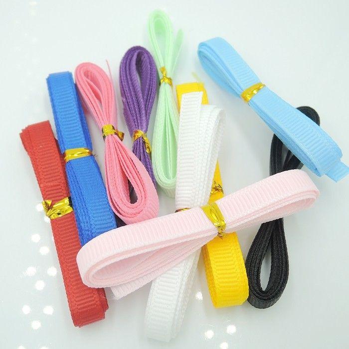 Сплошной цвет тканая лента упаковка 10 ярды сочетание цветов с бантом празднования одежды-diy материалов лента -